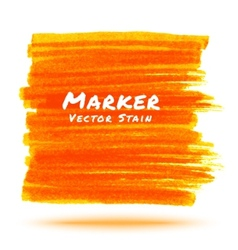 Orange marker stain vector