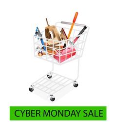 Auto Repair Tool Kits Cyber Monday Shopping Cart vector image