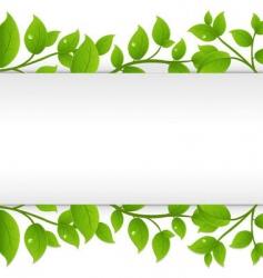 Leafy border vector