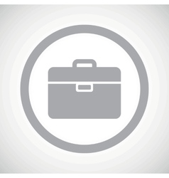 Grey briefcase sign icon vector