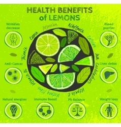 Lemon health benefits vector