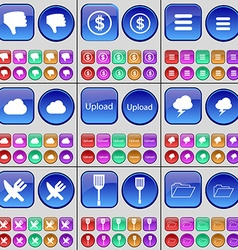 Dislike cloud upload cloud cutlery padle folder a vector