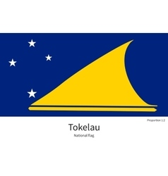 National flag of tokelau with correct proportions vector