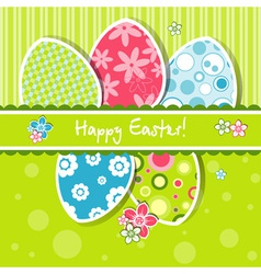 Template easter greeting card vector