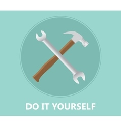 Diy do it yourself icon with screwdriver and vector
