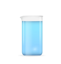 Beaker with pure blue water vector