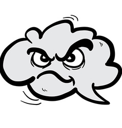 Angry freehand drawn cartoon cloud speech bubble vector