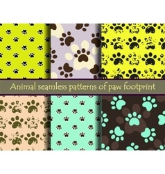 Seamless pattern set with cat or dog vector