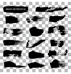 Set of brush stroke stains isolated vector