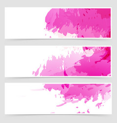 Abstract art header set collection vector