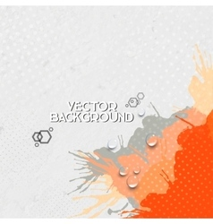 Abstract hand drawn spotted gray-orange background vector