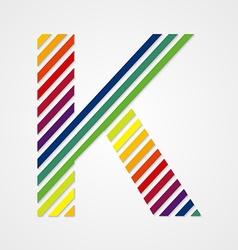 Alphabet Letter K vector image vector image