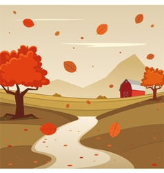 Autumn farm landscape vector
