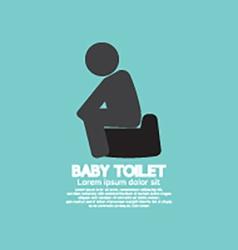 Black symbol baby toilet vector