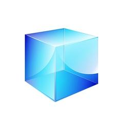 Box blue glossy vector
