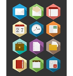 Business flat icons design set vector image vector image