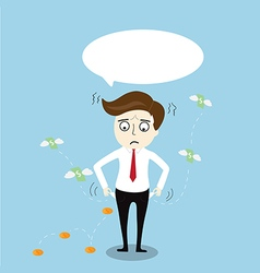 Businessman with no money vector image vector image