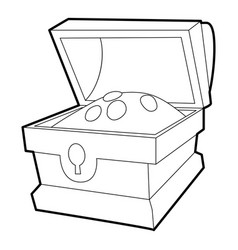 Chest of gold icon outline vector