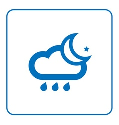 Cloud rain and moon icon vector image