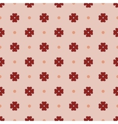 Flowers geometric seamless pattern 1212 vector image