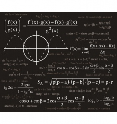 formulas background vector image vector image