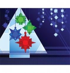 geometric christmas vector image vector image