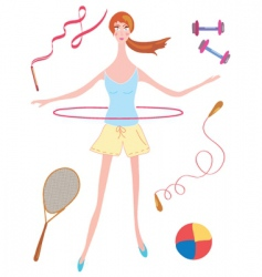 girl sport vector image vector image