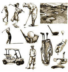 golf collection vector image vector image