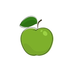 Green apple isolated on white vector