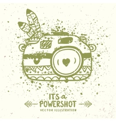 grunge camera vector image vector image