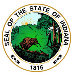 indiana state seal vector image vector image