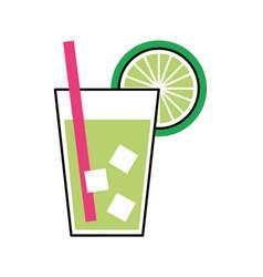 Lemon tropical fruit beverage vector