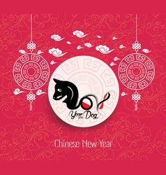 oriental chinese new year background year of the vector image