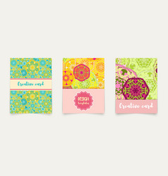 Set ethnic cards invitations flyers banners a4 vector