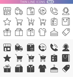 Shopping and money set vector