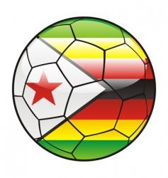 zimbabwe flag on soccer ball vector image vector image