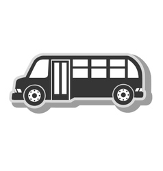 Public bus vehicle icon vector