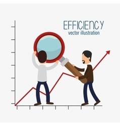 Icon efficient management design isolated vector