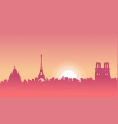 paris scenery at morning vector image