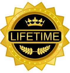 Lifetime guarantee label vector