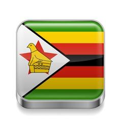 Metal icon of Zimbabwe vector image