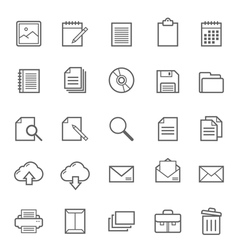 Set of outline stroke document icon vector