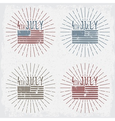 4th july american independence day grunge set vector image