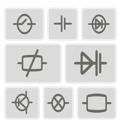Icons with elements of electronic board vector