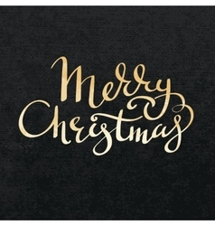 Merry christmas gold lettering vector