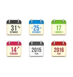 Calendar icons set for holidays vector