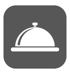 The tray station icon breakfast and lunch dinner vector