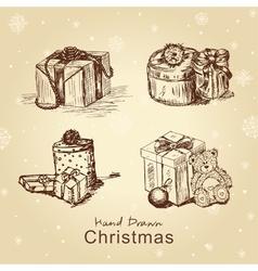 christmas gifts set vector image
