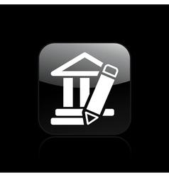 temple design icon vector image