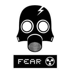 Radioactive fear symbol vector